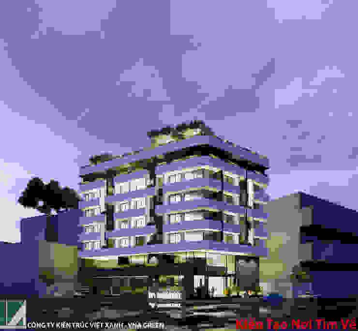 KHÁCH SẠN 08 TẦNG + 01 TẦNG HẦM bởi Kiến trúc Việt Xanh