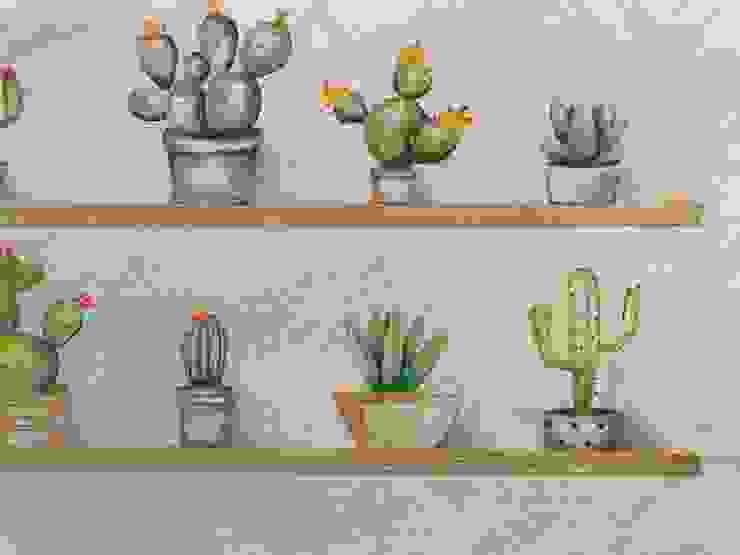 Pintura mural Escuelas de estilo moderno de A interiorismo by Maria Andes Moderno Madera Acabado en madera