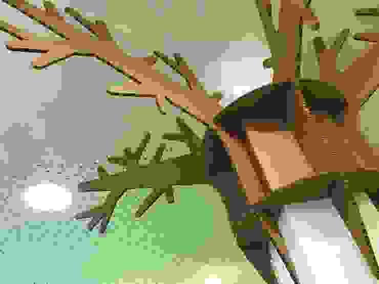 Árbol decorativo de cartón Escuelas de estilo moderno de A interiorismo by Maria Andes Moderno Tableros de virutas orientadas