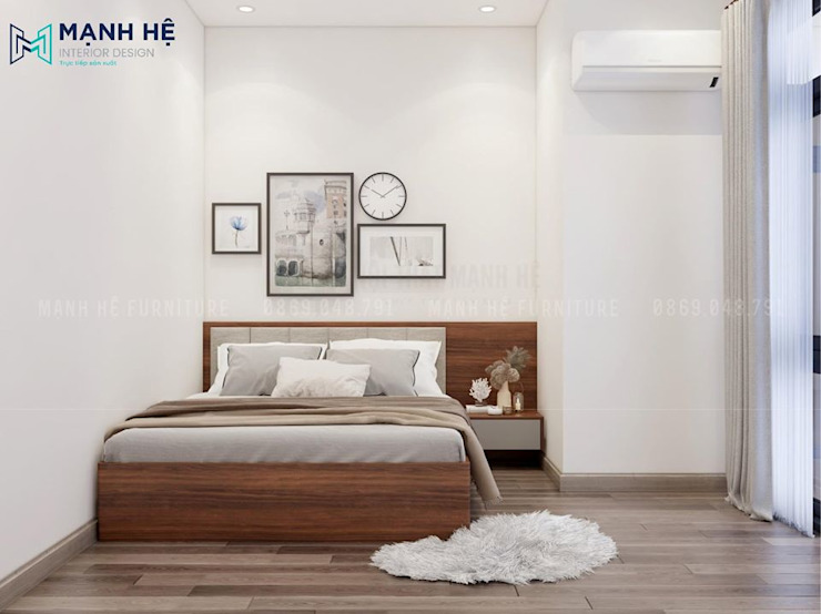 Bọc nệm đầu giường êm ái cũng giúp tránh va đập khi bất cẩn bởi Công ty TNHH Nội Thất Mạnh Hệ Hiện đại