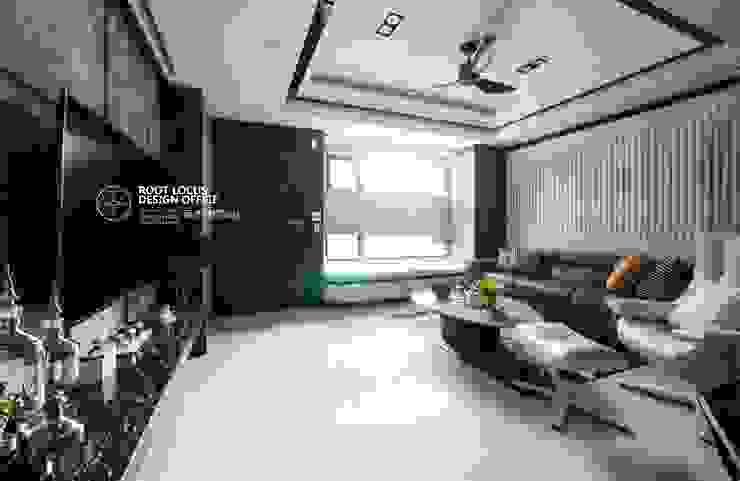 方寸之韻 现代客厅設計點子、靈感 & 圖片 根據 築本國際設計有限公司 現代風