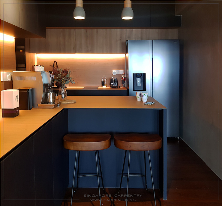 Modern Industrial Smart Home BTO @ St George Lane by Singapore Carpentry Interior Design Pte Ltd