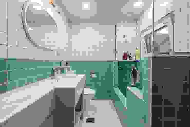 컬러감이 돋보이는 욕실 한글주택(주) 모던스타일 욕실