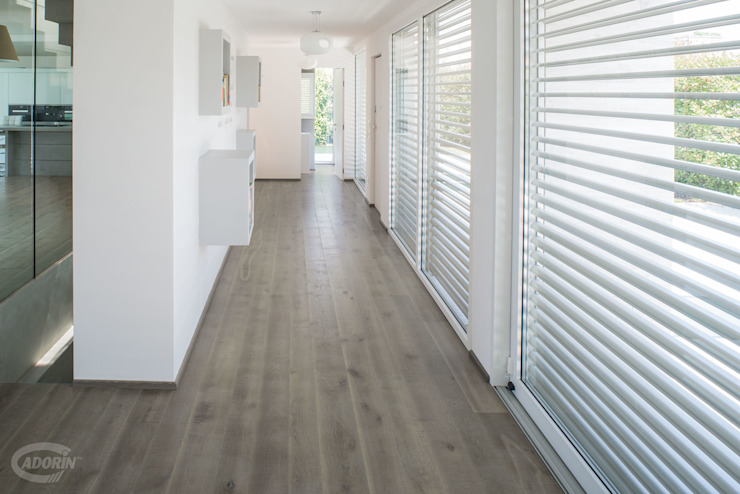 Cadorin Group Srl - Italian craftsmanship production Wood flooring and Coverings Modern Corridor, Hallway and Staircase Wood