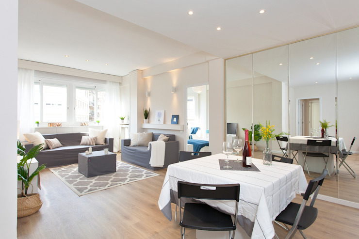 Comedor Comedores de estilo escandinavo de Lala Decor Home Staging y Reformas Integrales de pisos Escandinavo