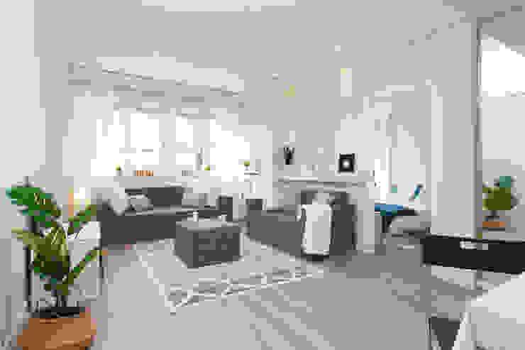 Salón con mueble de cartón Salones de estilo escandinavo de Lala Decor Home Staging y Reformas Integrales de pisos Escandinavo