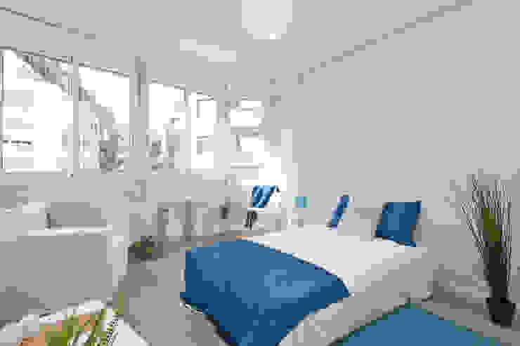 Dormitorio con mueble de cartón Dormitorios de estilo escandinavo de Lala Decor Home Staging y Reformas Integrales de pisos Escandinavo