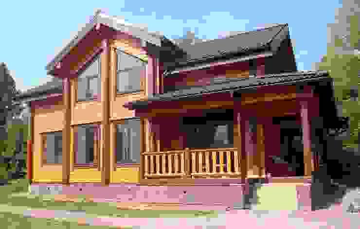 Фасад дома от ДДМ-Строй Классический Дерево Эффект древесины