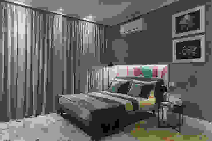PRE-FABulous Camera da letto in stile tropicale di Legnocamuna Case Tropicale