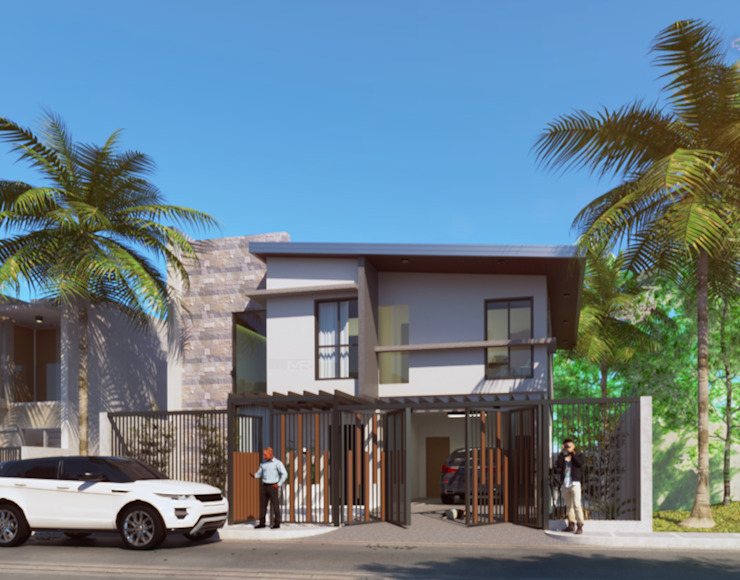 Exterior perspective by MR architecture