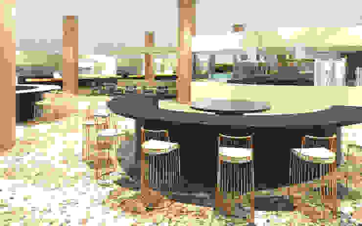 3D Rendering restaurant dengan konsep elegan dan luxury Oleh Northsky Studio
