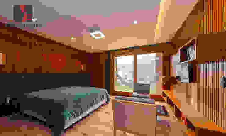 Interiores Casa de Praia Quartos rústicos por MEI Arquitetura e Interiores Rústico Madeira Efeito de madeira
