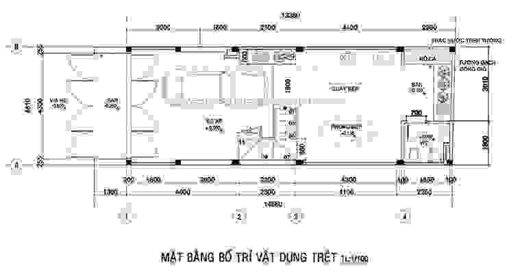 Mẫu thiết kế nhà ở kết hợp văn phòng hiện đại ở quận Gò Vấp Nhà để xe/nhà kho phong cách hiện đại bởi Công ty xây dựng nhà đẹp mới Hiện đại
