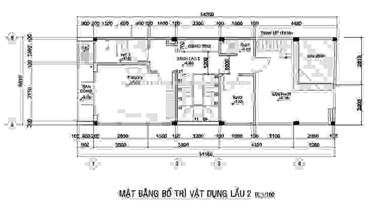 Mẫu thiết kế nhà ở kết hợp văn phòng hiện đại ở quận Gò Vấp Phòng ngủ phong cách hiện đại bởi Công ty xây dựng nhà đẹp mới Hiện đại