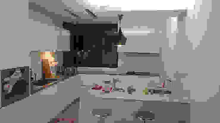 L型廚具+中島 現代廚房設計點子、靈感&圖片 根據 微.櫥設計/We.Design Kitchen 現代風