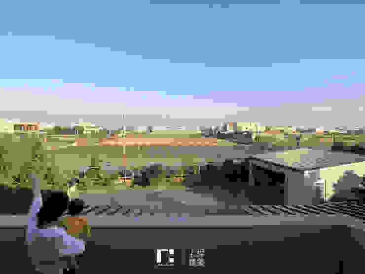 Minimalistyczny balkon, taras i weranda od 上埕建築 Minimalistyczny