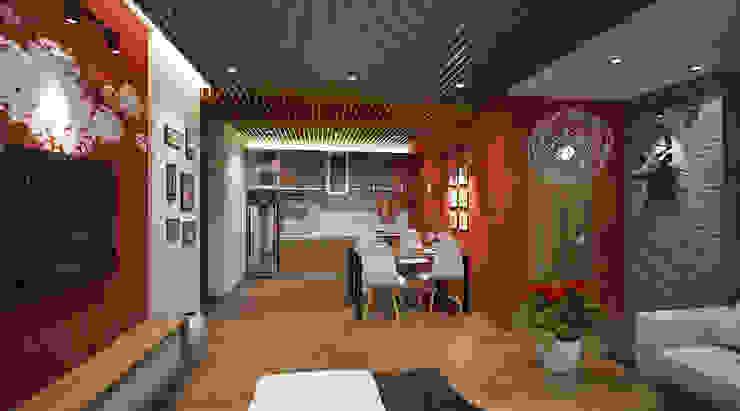 Thiết kế và thi công nội thất căn hộ: nhiệt đới  by Công ty CỔ PHẦN TƯ VẤN THIẾT KẾ VÀ XÂY DỰNG NGUYÊN AN, Nhiệt đới