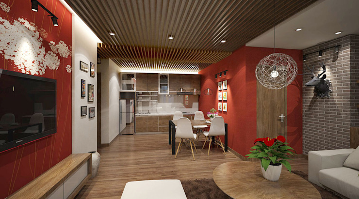 Thiết kế và thi công nội thất căn hộ: hiện đại  by Công ty CỔ PHẦN TƯ VẤN THIẾT KẾ VÀ XÂY DỰNG NGUYÊN AN, Hiện đại