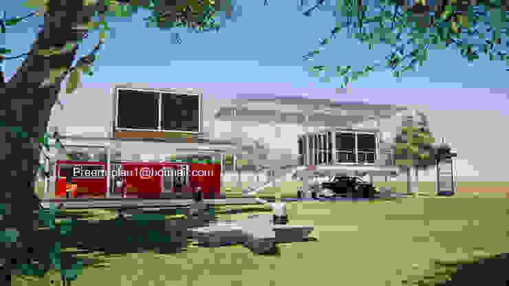 รับเขียนแบบบ้าน&ออกแบบบ้าน Minimalist house