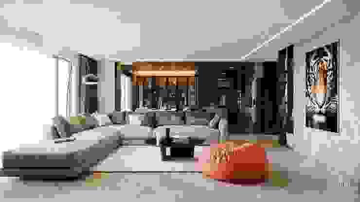 PHÒNG KHÁCH : hiện đại  by Công ty CP Kiến trúc và Nội thất Sen design, Hiện đại Ly