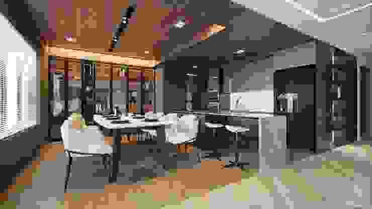 Phòng ăn : hiện đại  by Công ty CP Kiến trúc và Nội thất Sen design, Hiện đại Gỗ thiết kế Transparent