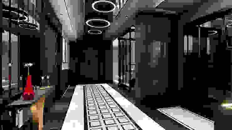 Koridor ANTE MİMARLIK Modern Koridor, Hol & Merdivenler Siyah