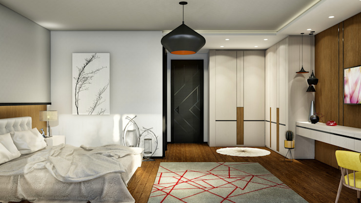 Misafir yatak odası ANTE MİMARLIK Küçük Yatak Odası