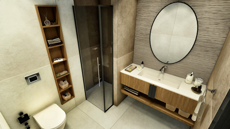 Misafir yatak odası - banyo ANTE MİMARLIK Modern Banyo