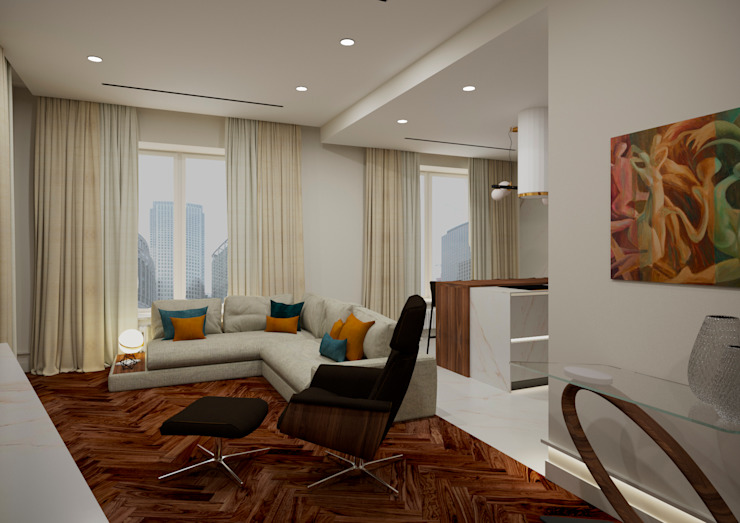 Modern Living Room by LEVI interior Modern Wood Wood effect