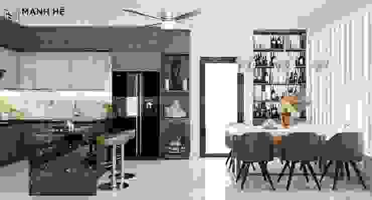 Điểm xuyết chi tiết của phong cách Scandinavian cho phòng bếp lung linh bởi Công ty TNHH Nội Thất Mạnh Hệ Bắc Âu