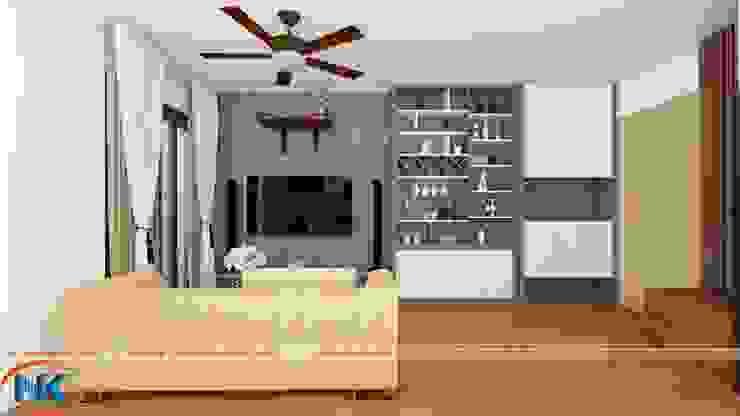 Mẫu thiết kế căn hộ chung cư 60m2 đơn giản mà hiện đại bởi Nội thất Nguyễn Kim