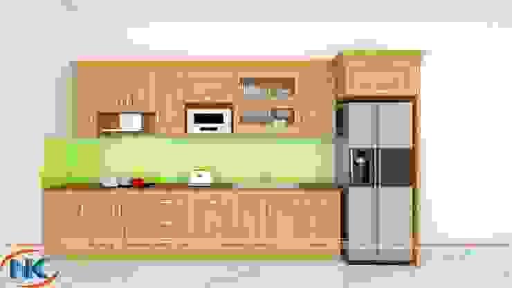Mẫu tủ bếp đẹp, giá rẻ phù hợp kinh tế đại đa số các gia đình hiện nay bởi Nội thất Nguyễn Kim