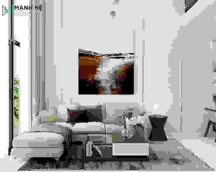 Salon moderne par Công ty TNHH Nội Thất Mạnh Hệ Moderne Pierre