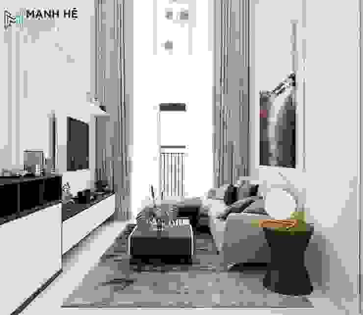 Salon moderne par Công ty TNHH Nội Thất Mạnh Hệ Moderne Caoutchouc