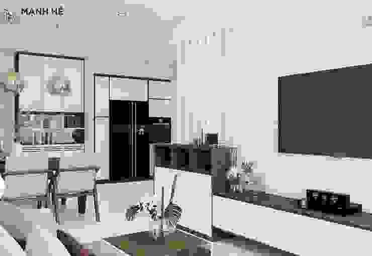 Salon moderne par Công ty TNHH Nội Thất Mạnh Hệ Moderne Marbre