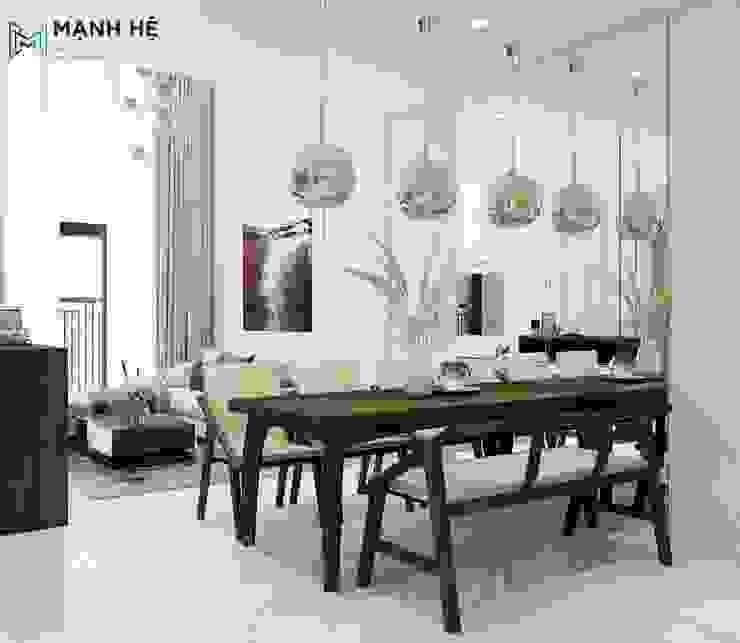 Salle à manger moderne par Công ty TNHH Nội Thất Mạnh Hệ Moderne Caoutchouc