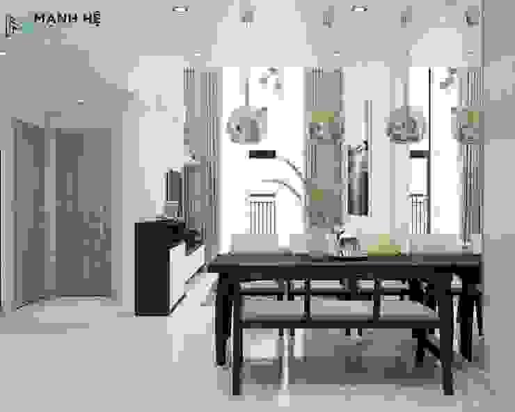 Salle à manger moderne par Công ty TNHH Nội Thất Mạnh Hệ Moderne Granite