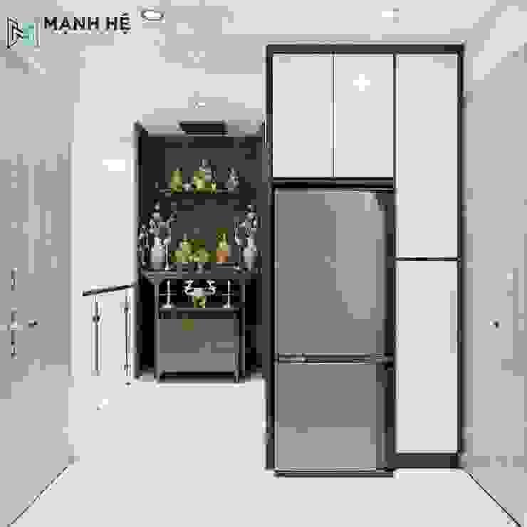 Couloir, entrée, escaliers modernes par Công ty TNHH Nội Thất Mạnh Hệ Moderne Caoutchouc