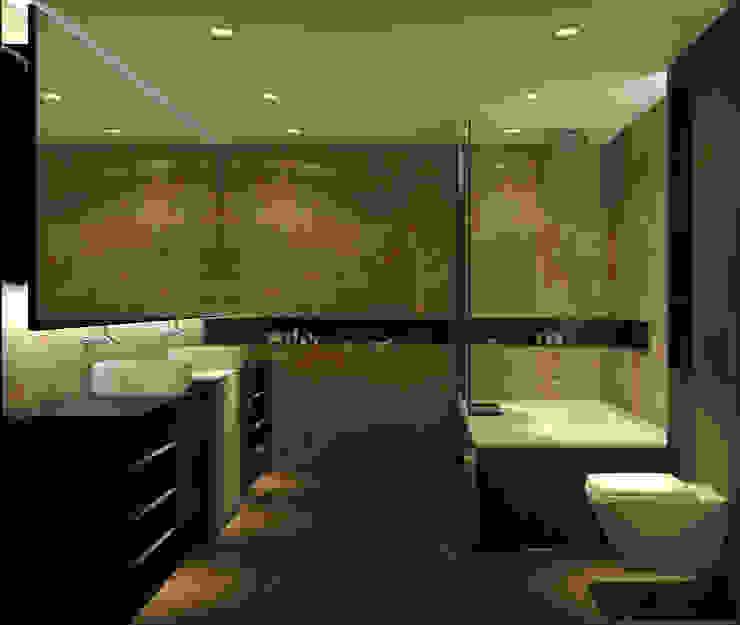 BANYO PROJESİ Modern Banyo WALL INTERIOR DESIGN Modern