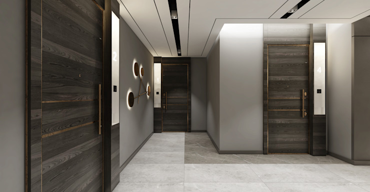 OTEL PROJESİ Modern Oteller WALL INTERIOR DESIGN Modern
