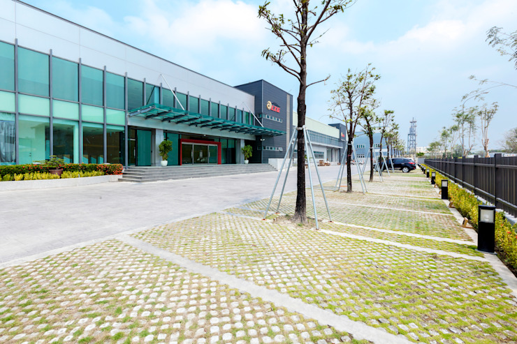 混泥土植草磚 根據 奧兒設計 現代風