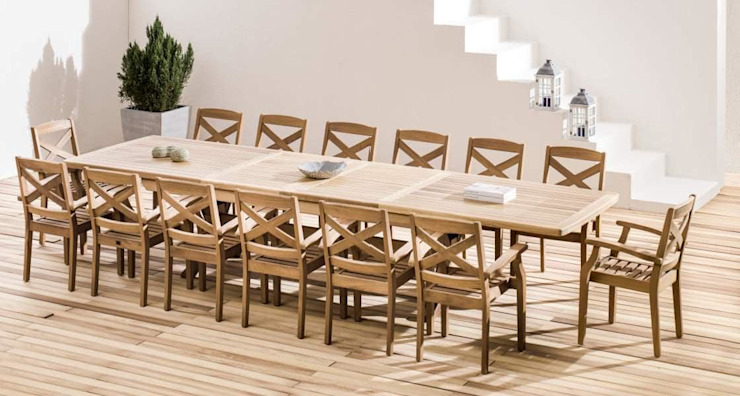 Outdoor Dining table and chairs SG International Trade Garden Furniture Wood