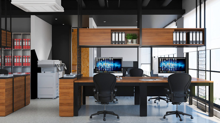 EEA Office Design, Shah Alam Industrial style study/office by Norm designhaus Industrial
