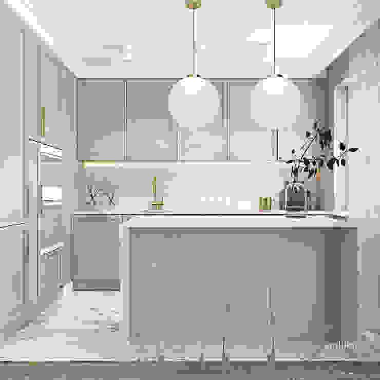 Z nutą stylu amerykańskiego Klasyczna kuchnia od Ambience. Interior Design Klasyczny