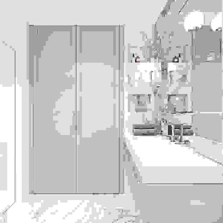 Z nutą stylu amerykańskiego Klasyczna łazienka od Ambience. Interior Design Klasyczny