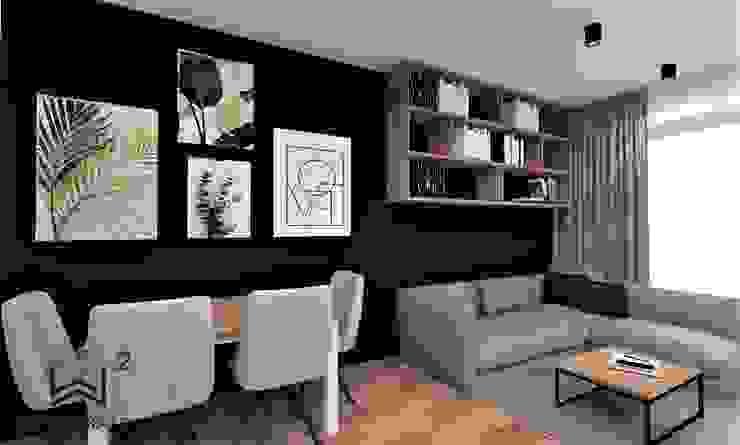 Salon z aneksem kuchennym Industrialna jadalnia od Wkwadrat Architekt Wnętrz Toruń Industrialny Matal