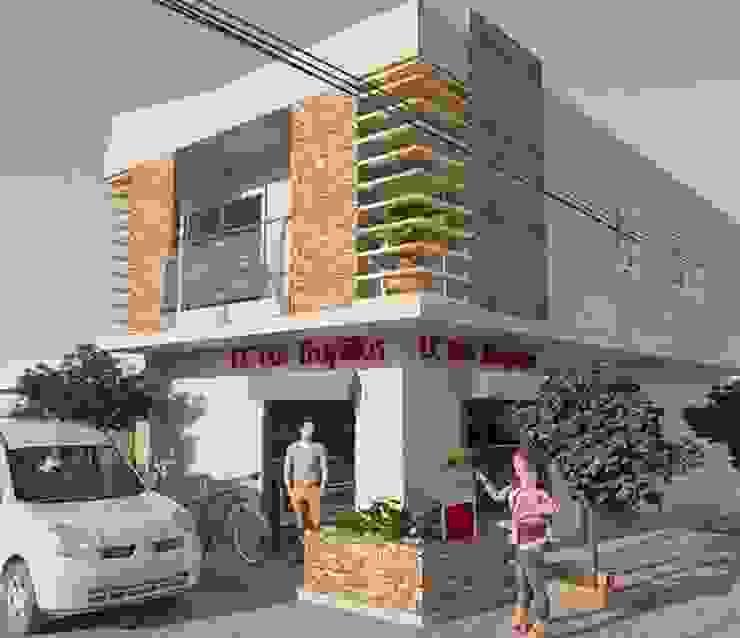 proyecto vivienda y local comercial de ESCUADRA MOBILIARIO Y ARQUITECTURA
