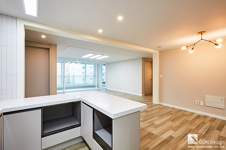 마곡푸르지오 41py 모던스타일 거실 by 곤디자인 (GON Design) 모던