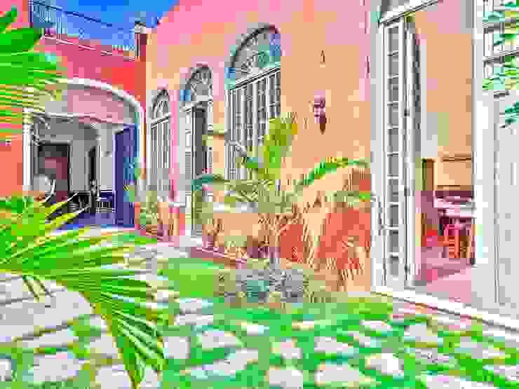 El jardín de Piedra Merida Architects Jardines clásicos Piedra Marrón