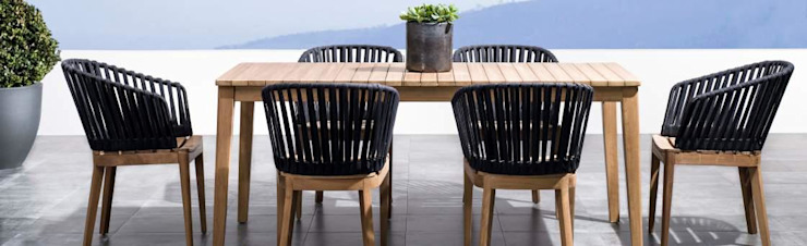 Patio dining table and chairs SG International Trade Garden Furniture Wood
